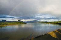 Photograph of Yukon River at Eagle, Alaska.